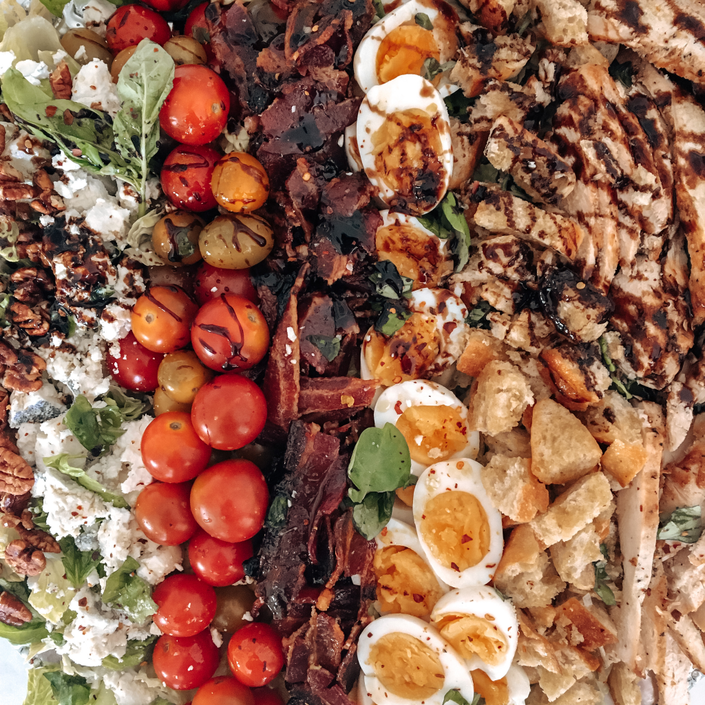 Family Style Cobb salad close up