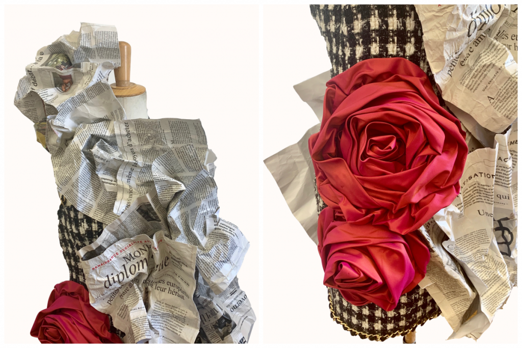 dress zoom paper and zoom flowers