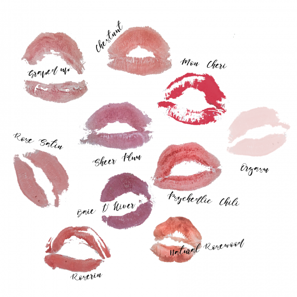 Lipstick collection lip stains