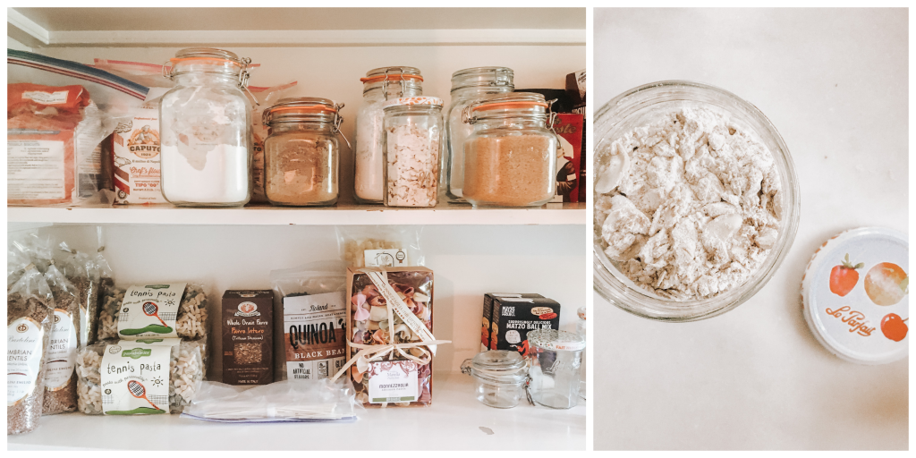 Dry mix in jar on pantry shelf + dry mix in jar alone