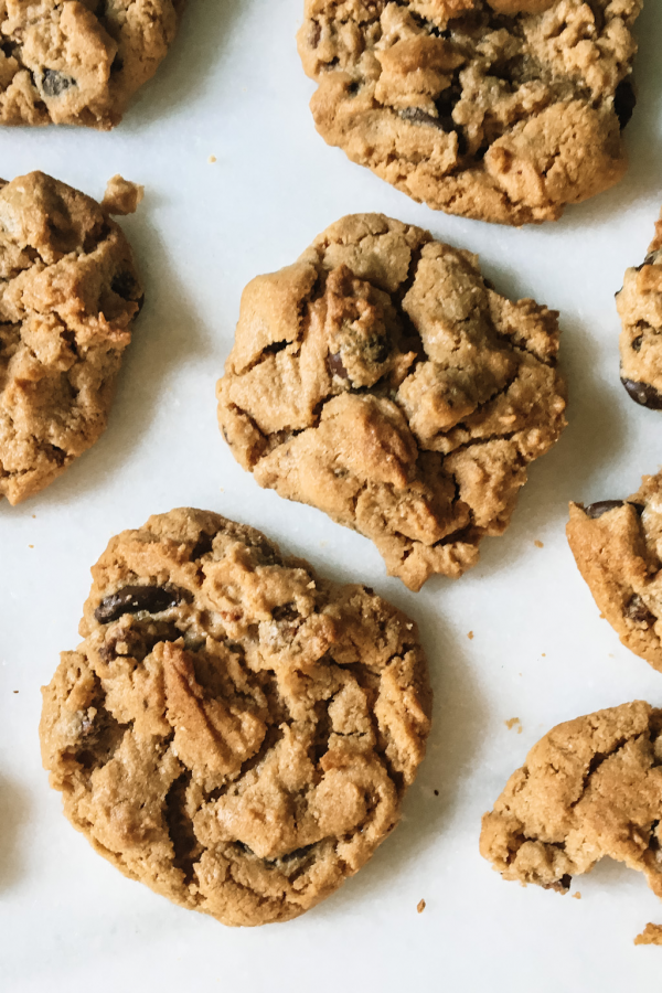 Soft baked peanut butter protein cookies