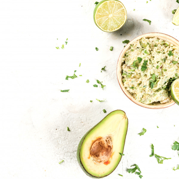 Best simple guacamole with avocado cilantro and lime